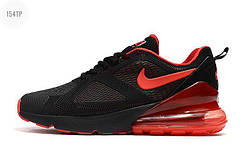 Чоловічі кросівки Nike Air Max 180 270 KPU Black/RED (р. 42,43,44) Чорні