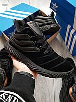 Мужские зимние кроссовки Adidas Sobakov Winter Total Black (р. 40, 41) Черные, фото 1