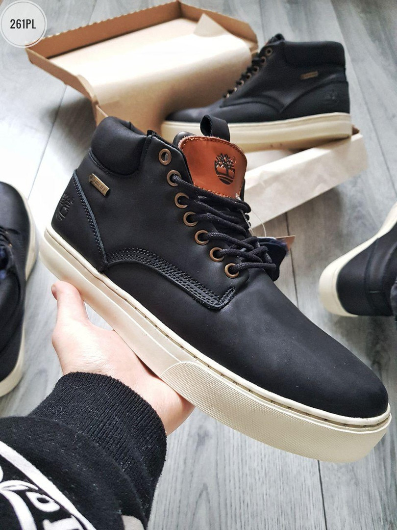 ЗИМА!!! Мужские ботинки Timberlаnd Winter Black (р. 41 42 43 44 45) Черные зимние