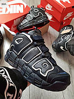 ЗИМА!!! Мужские кроссовки Nike Air Uptеmpo Blue Winter (р. 40 41 42 43 44 45) Синие зимние, фото 1
