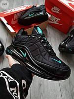 Чоловічі кросівки Nike Air Max 720-818 Black/Blue (р. 41 42 43 44 45) Чорні, фото 1