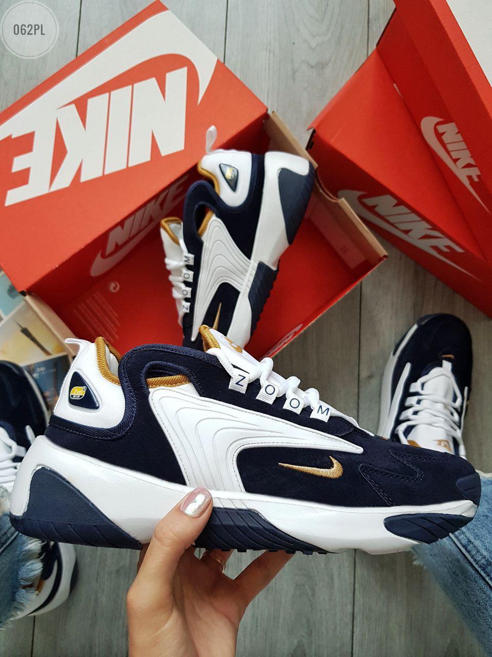 Мужские кроссовки Nike Air Zoom White\Blue (р. 42.5 и 43) Синие с белым