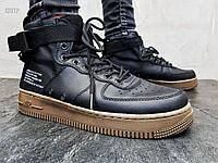 Чоловічі кросівки Nike Air Force Hight Black Gum (р. 43 і 44), фото 1