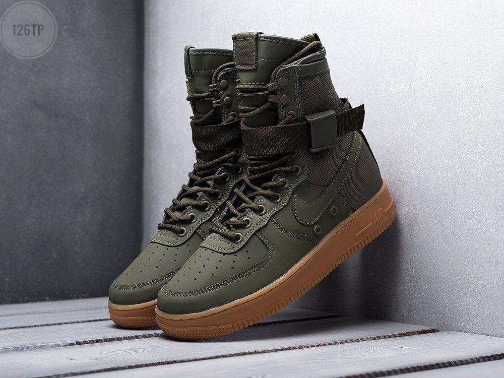 Мужские кроссовки Nike Air Force Hight Haki Gum (р. 42) Хаки