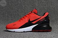 Мужские кроссовки Nike Air Max 270 Red (р. 41-44) Красные, фото 1