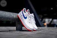 Мужские кроссовки Nike Air Force 1 '07 LV8 White/Blue (р.41 43 44) белые, фото 1