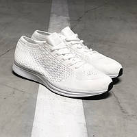 Мужские кроссовки Nike Flyknit Racer Pure White, фото 1