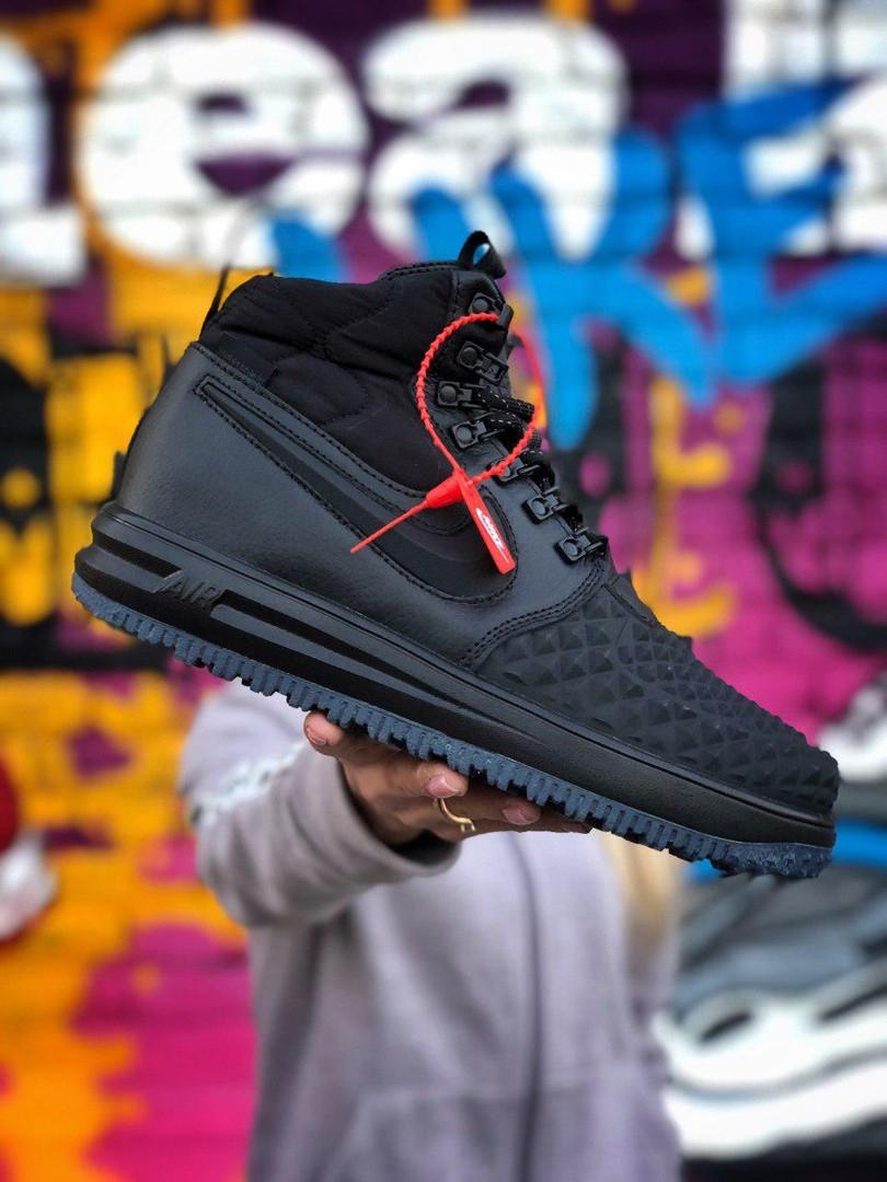 Чоловічі кросівки Nike Lunar Force 1 Duckboot '17 Black зимові, Копія