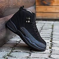 Мужские кроссовки Nike Air Jordan 12 чёрные. Размеры (41, 42, 43, 44, 45), фото 1