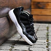 Мужские кроссовки Nike Air Jordan 11 чёрные. Размеры (40, 41, 42, 43, 44), фото 1