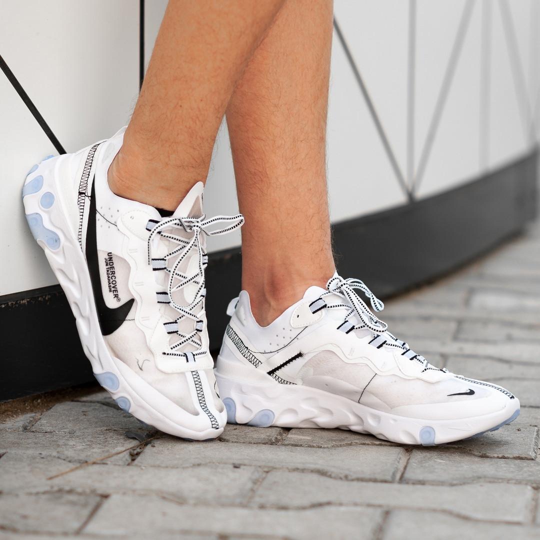 Мужские кроссовки Nike React Element белые. Размеры (41, 42, 43, 44, 45)