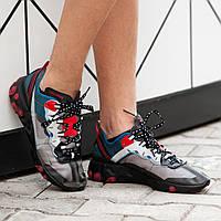 Мужские кроссовки Nike React Elementсерые. Размеры (41, 42, 43, 44, 45)