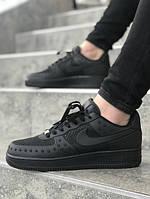 Мужские кроссовки Nike Air Force чёрный. Размеры (40,41,42,43,44,45), фото 1