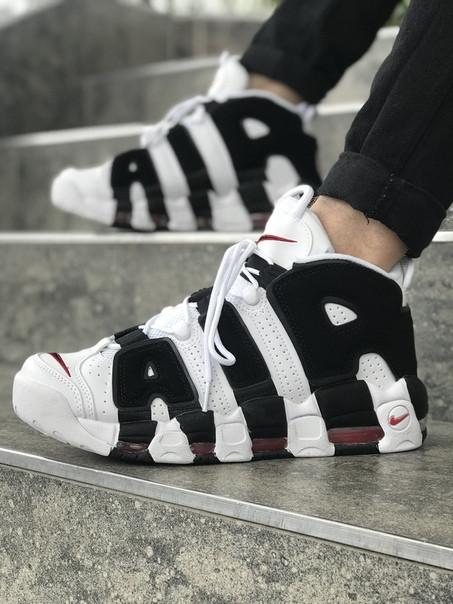 Мужские кроссовки Air More Uptempo белые. Размеры (40,41,42,43,44,45)