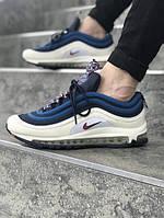 Мужские кроссовки Nike Air Max 97 синие. Размеры (40,41,42,43,44,45), фото 1