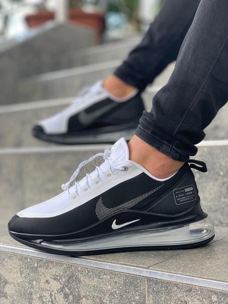 Мужские кроссовки Nike Air Max 720 чёрно-белые. Размеры (40, 41, 42, 43, 44, 45)