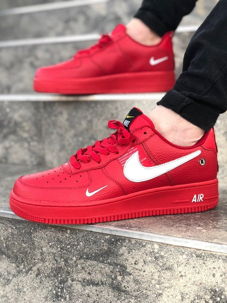Мужские кроссовки Nike Air Force LV8 Red.