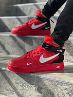 Мужские кроссовки Nike Air Force красные. Размеры (41,42,43,44,45), фото 1