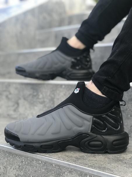 Мужские кроссовки Nike TN Slip серые. Размеры (41,42, 43, 44,45)