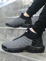 Мужские кроссовки Nike TN Slip серые. Размеры (41,42, 43, 44,45), фото 1