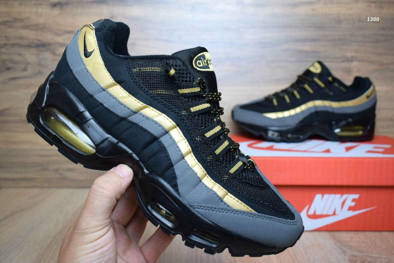 Мужские кроссовки Nike Air Max 95 Black Gold