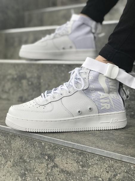 Мужские кроссовки Nike Air Force 1 Special Field   Найк Спешл Филд Высокие Белые