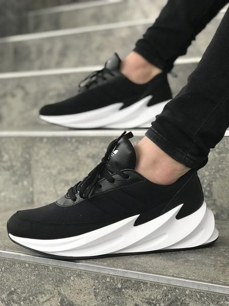 Мужские кроссовки Adidas Sharks Black-White. Размеры (40, 41, 42, 43, 44, 45)