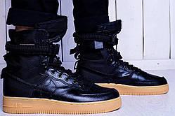 Мужские кроссовки Nike Air Force 1 Special Field | Найк Спешл Филд Высокие Черные