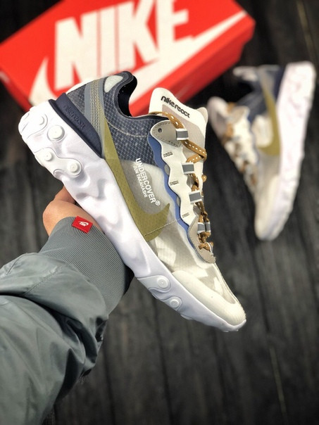 Мужские кроссовки Nike Undercover React Element 87. Размеры (40,41,42,43,44,45)