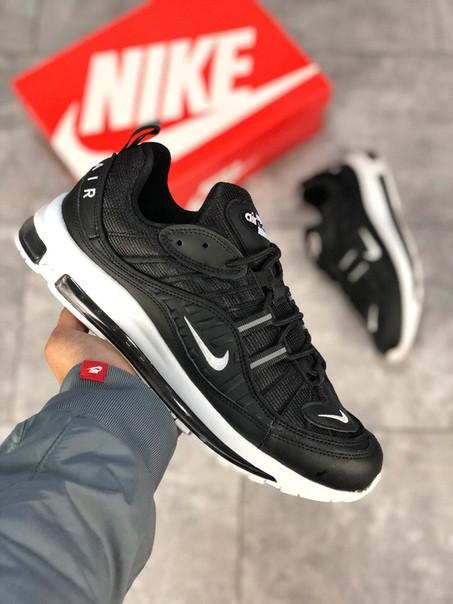 Мужские кроссовки Nike Air Max 98 чёрные. Размеры (40,41,42,43,44,45)