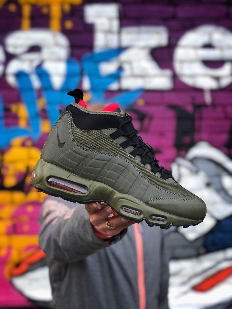 Мужские кроссовки Nike Air Max 95 Sneakerboot хаки / Размеры (40,41,42,43,44,45)