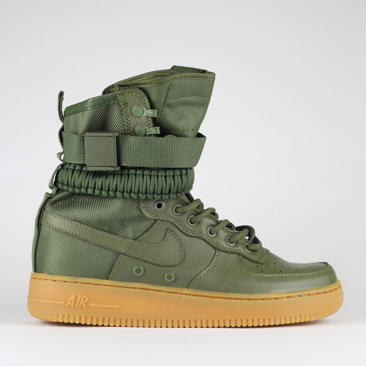Мужские кроссовки Nike Air Force 1 Special Field | Найк Спешл Филд Высокие Зеленые