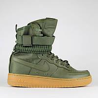 Мужские кроссовки Nike Air Force 1 Special Field | Найк Спешл Филд Высокие Зеленые, фото 1