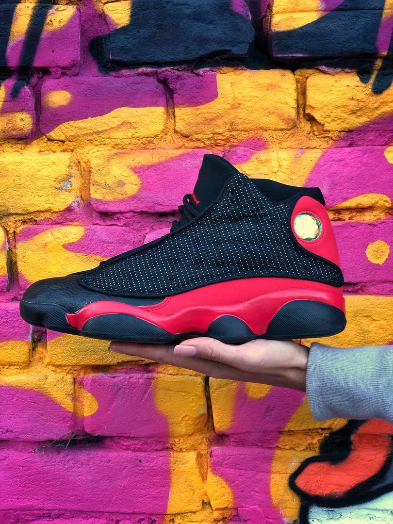 Мужские кроссовки Air Jordan 13 Retro Black Red (чёрный/красный). Размеры (42,43,44,45)
