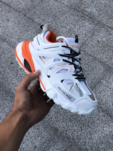 Мужские кроссовки Balenciaga TRACK белые. Размеры (36,39,41,42,43)