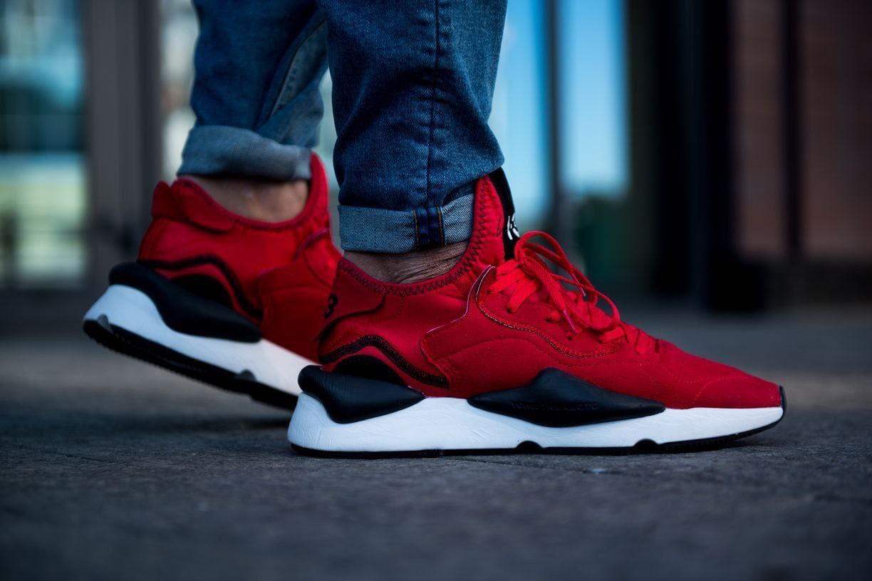 Мужские кроссовки Adidas y3 kaiwa красные. Размеры (41,42,43,44,45)