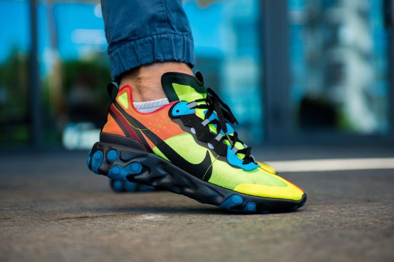 Мужские кроссовки Nike React Element 87 салатовый. Размеры (41,42,43)