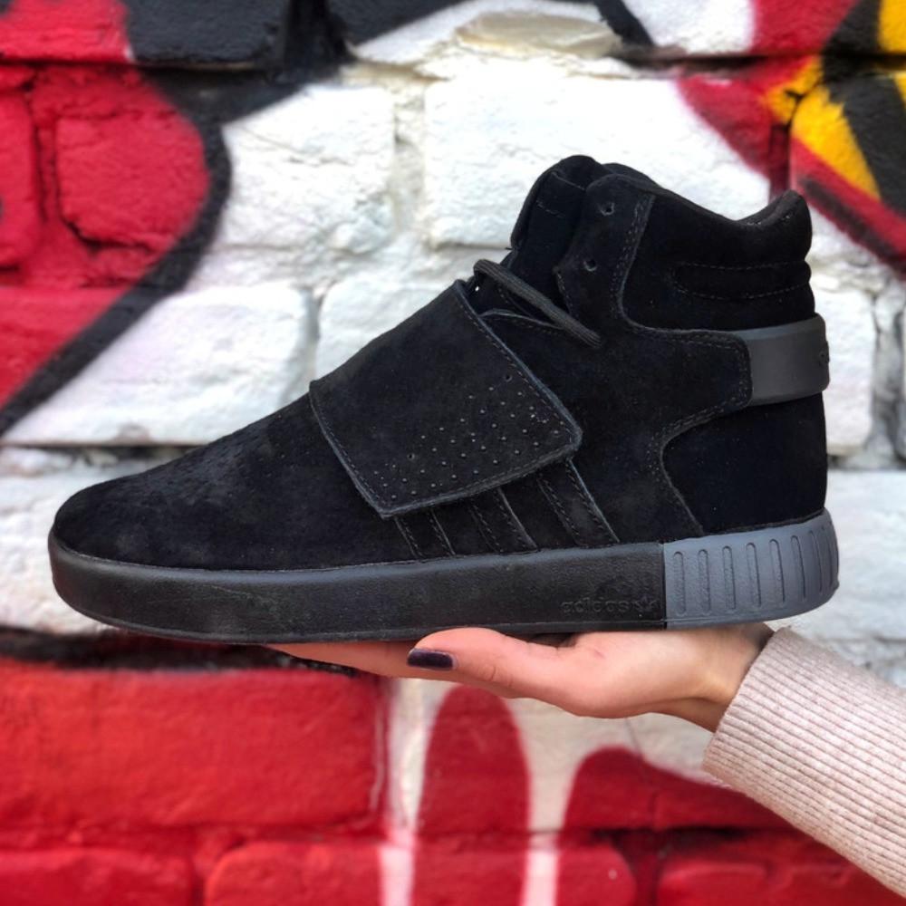 Мужские кроссовки Adidas Tubular Invander Winter зимние. Размеры (41,42,43,44,45)