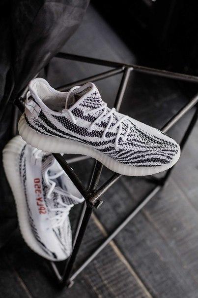 Мужские кроссовки Adidas Yeezy Boost 350 V2 Zebra зебра. Размеры (38,39,40,41,42,44)