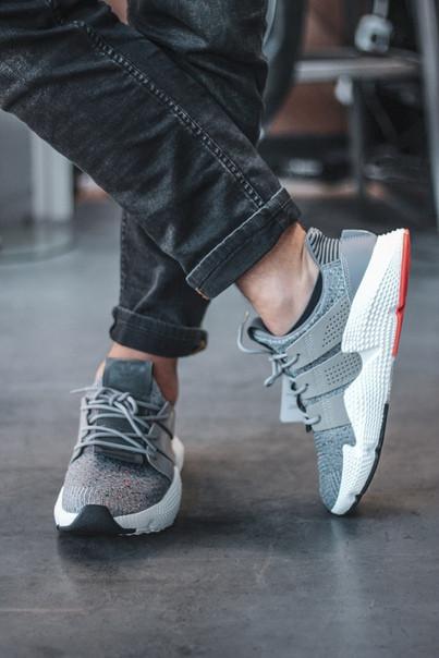 Мужские кроссовки Adidas Prophere Grey серые. Размеры (40,41,44)