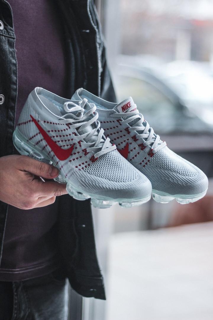 Мужские кроссовки Nike Vapormax Grey серые. Размеры (42,43,44)