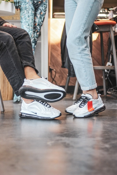 Мужские кроссовки Nike Air Max 720 White белые. Размеры (41,42,43)