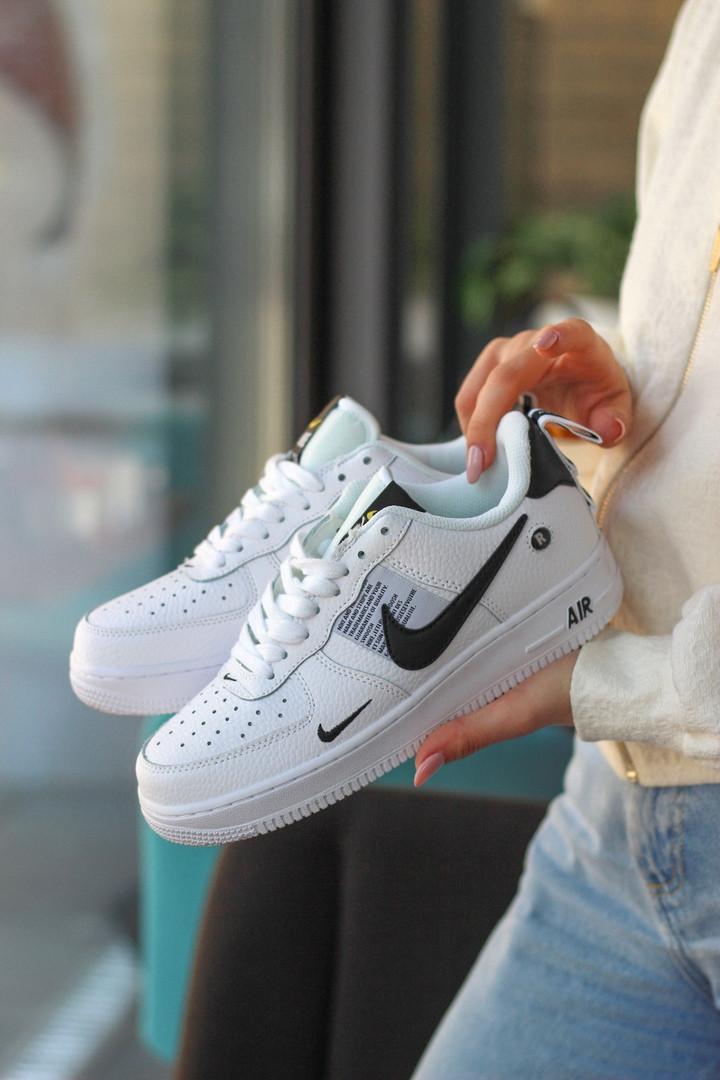 Кроссовки Nike Air Force 1 SE Premium White белые.