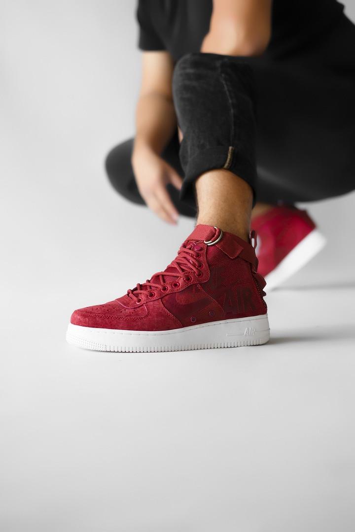 Мужские кроссовки  Nike Air Force SF AF1 Red красные. Размеры (40,42,44,45)