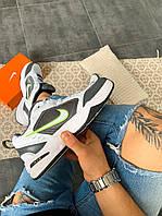 """Мужские кроссовки Nike Air Monarch IV """"White/green"""" белые. Размеры (40,41,42,43,44,45), фото 1"""