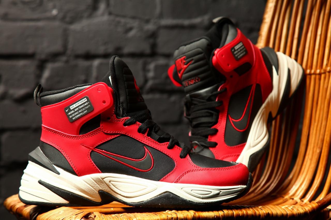 """Мужские кроссовки Nike M2K Tekno Winter """"Red"""" зима, красные. Размеры (41,42,44)"""