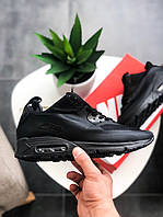 """Мужские кроссовки Nike Air Max 90 Mid Winter """"Black"""" зима, чёрные. Размеры (41,42,43,44,45), фото 1"""