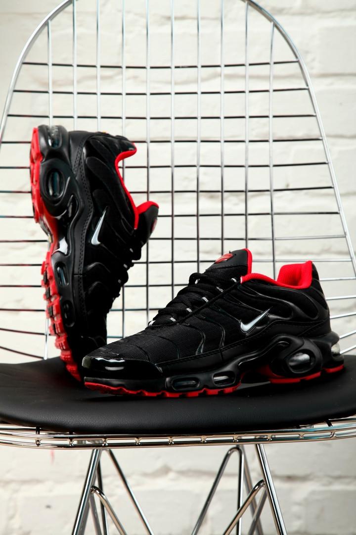 Мужские кроссовки Nike Air Max Tn + Black/Red, чёрно-красные. Размеры (41,42,43,44,45)