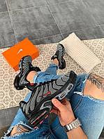 "Мужские кроссовки Nike Air Max Tn+ ""Grey/Red"", серые. Размеры (41,42,43,44,45), фото 1"