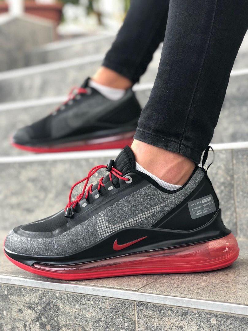 Мужские кроссовки Nike Air Max 720 чёрно-серые. Размеры (40,41,42,43,44,45)
